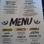 Comida do Sul menu