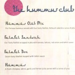 Hummus Club menu