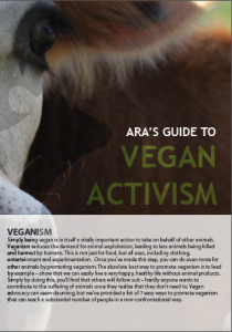 Image: ARA's Guide to Vegan Activism