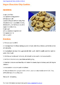 Image: Recipe choc chip cookies