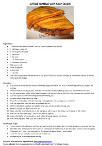Image: Recipe grilled tortillas